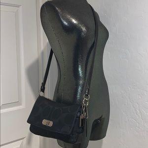 Coach F17798 Chelsea Black Canvas Crossbody Bag